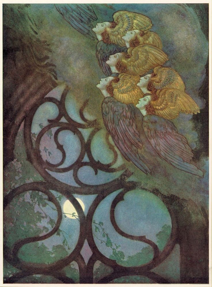Illustration by Edmund Dulac From The Poetical Works of Edgar Allan Poe First publishedby Hodder & Stoughton, 1912