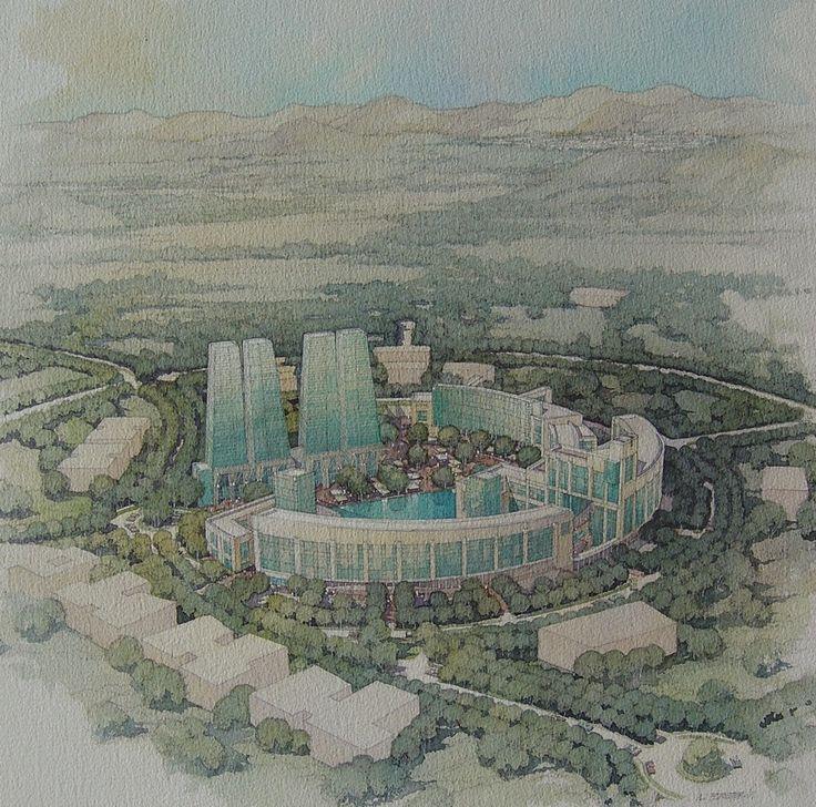 Ciudad Empresarial, Huechuraba, Santiago, Chile - Andreu-Verdaguer-Urquieta-Zechetto, arquitectos asociados