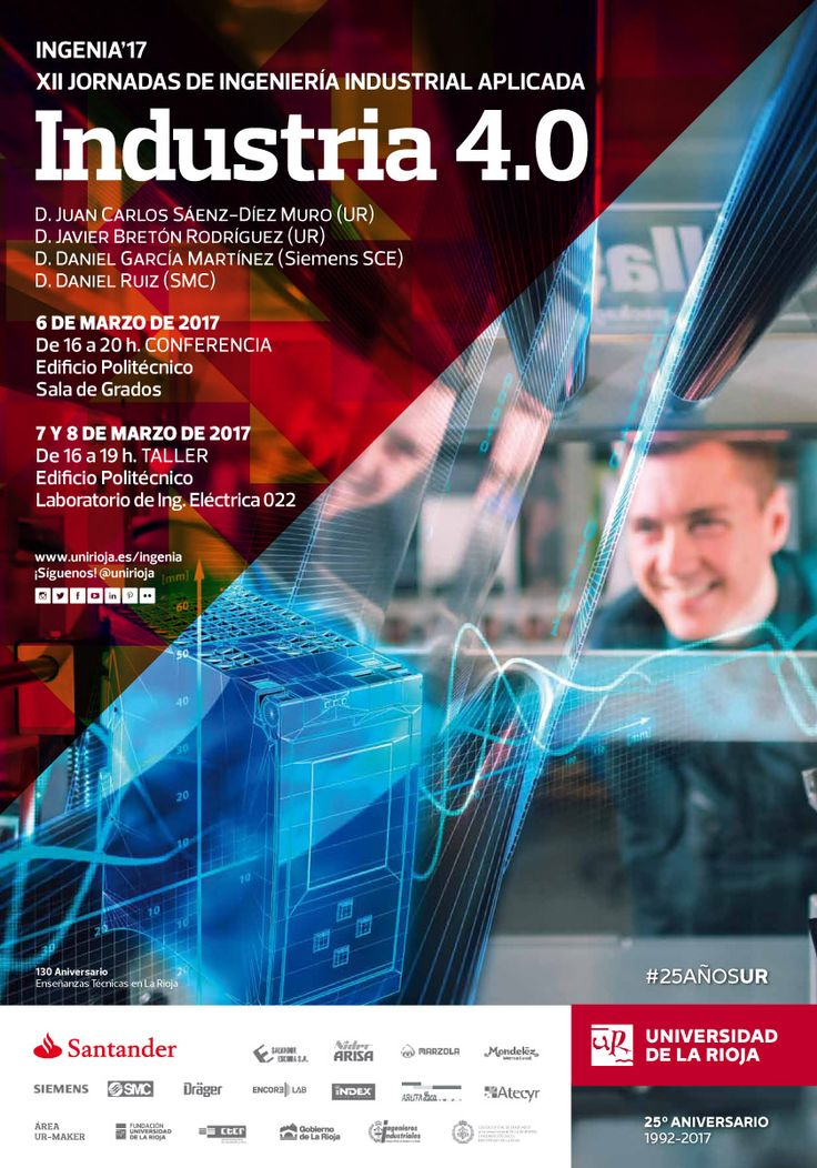 Curso 'Industria 4.0' en XII Jornadas de Ingeniería Industrial Aplicada (ingenia'17)