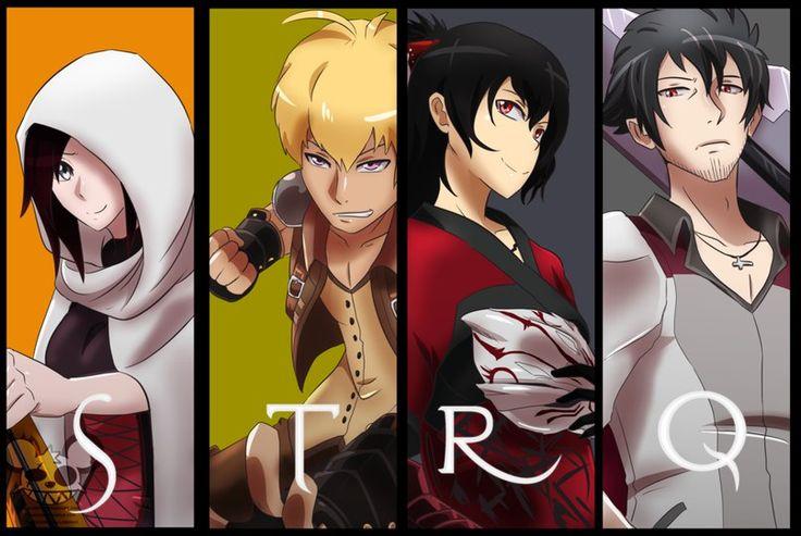 Team STRQ. Summer, Taiyang, Raven, and Qrow