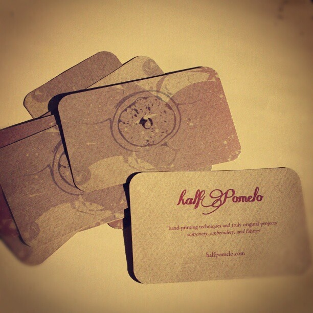 My handmade business cards :D