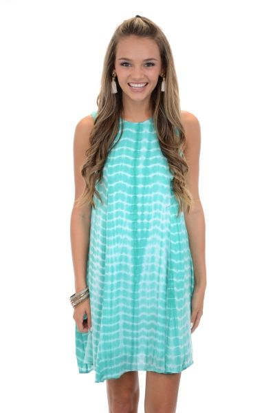 Seaweed Tie Dye Dress, Jade :: NEW ARRIVALS :: The Blue Door Boutique
