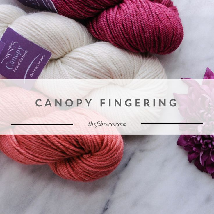 Canopy Fingering is a 3ply fingering weigh 50% baby alpaca, 30% Merino wool, 20% viscose from bamboo yarn.  The 3 ply of Canopy Fingering provides good stitch definition that means it works well for both colorwork and textured knits.
