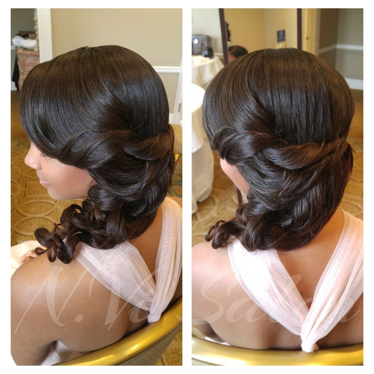beautiful sew in. wedding hairstyles
