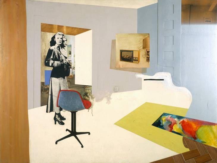 Richard Hamilton - collage - perspective et bois