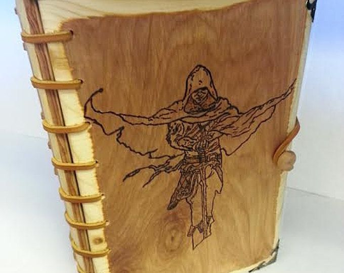 Book cover, wood book cover, book decor, custom book cover, burned wood book cover, Prince of Thorns, CUSTOM for YOUR favorite book!