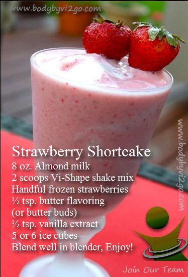 Strawberrry Shortcake Visalus Shake More Visalus recipes can be found at:  https://www.facebook.com/TheLVLife