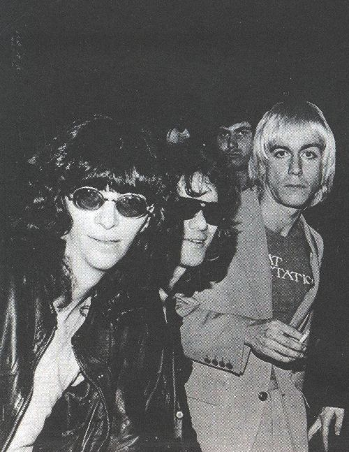 Joey Ramone, Tommy Ramone and Iggy Pop...