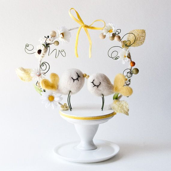 SO Cute Bird Cake Topper from Emilie Friday on Etsy