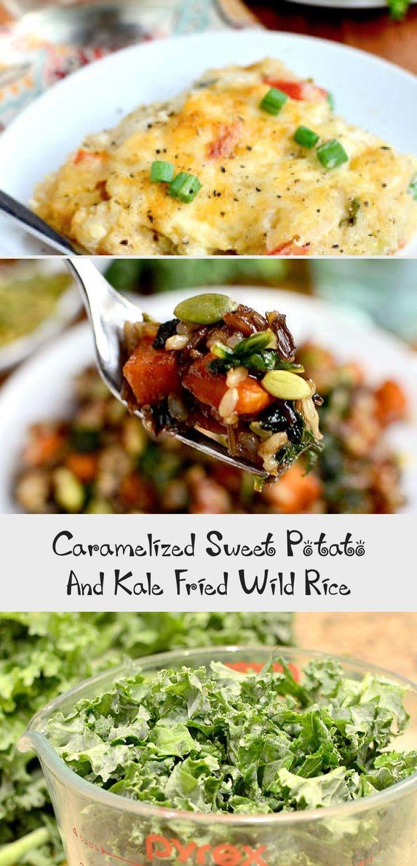Caramelized Sweet Potato And Kale Fried Wild Rice - Easy ...