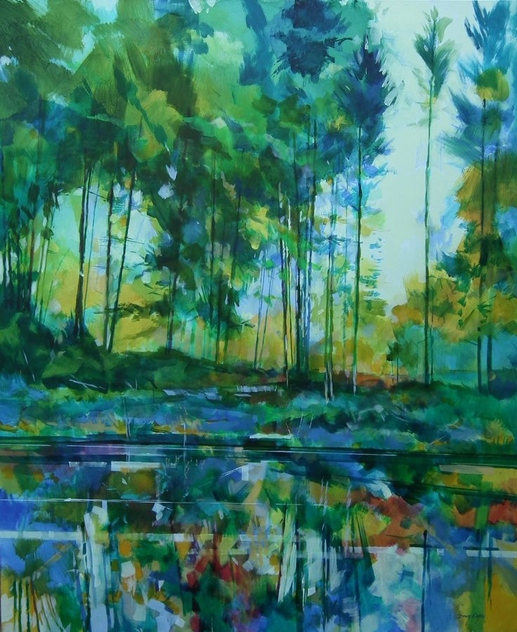 Meadowcliff Pond - Forest of Dean ref: 013-014  http://www.dougeaton.co.uk/painting/477-Meadowcliff_Pond