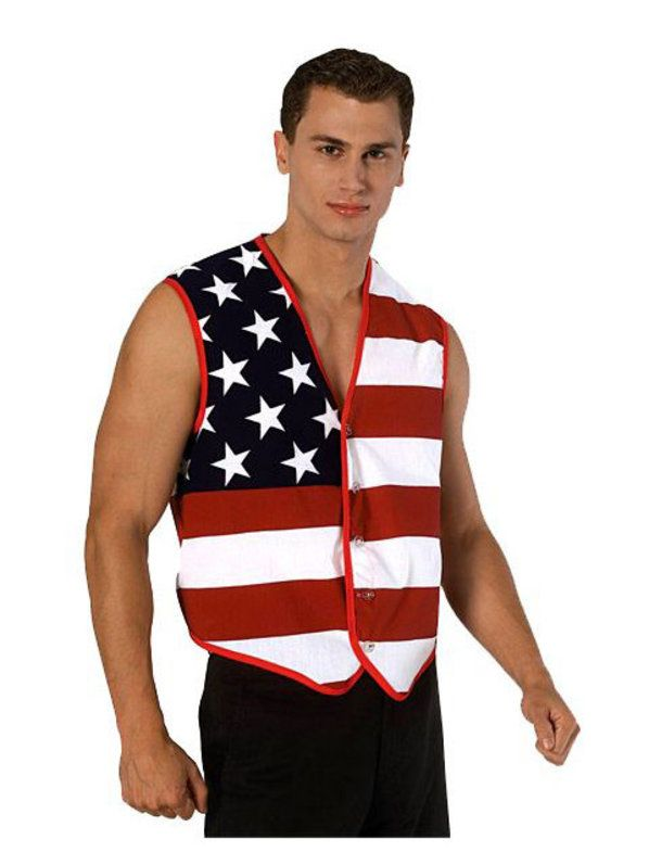 Check out Stars & Stripes American Flag Vest - Patriotic Accessories from Wholesale Halloween Costumes