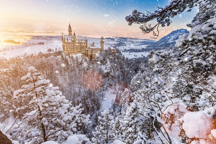 Did you know? King Ludwig's Neuschwanstein Castle is one of the most visited castles in Germany, which famously inspired Walt Disney to create Magic Kingdom! It is simply enchanting in winter.