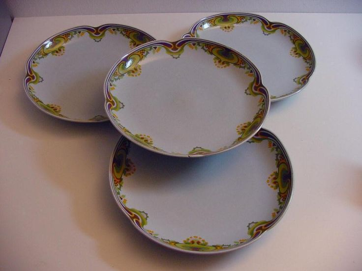 4 Rosenthal plates, marked Rosenthal Studio Linie Germany #Rosenthal