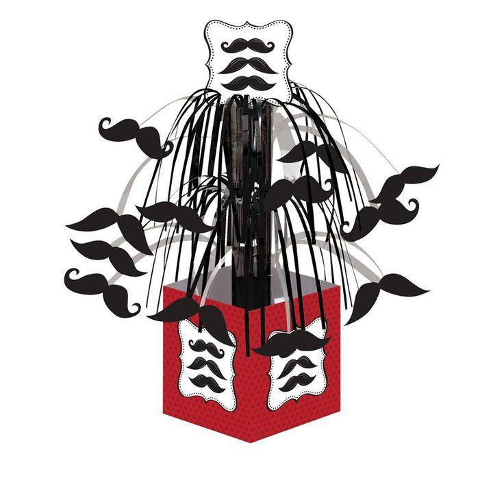 Mustache Madness Mini Cascade Centerpiece with Base/Case of 6