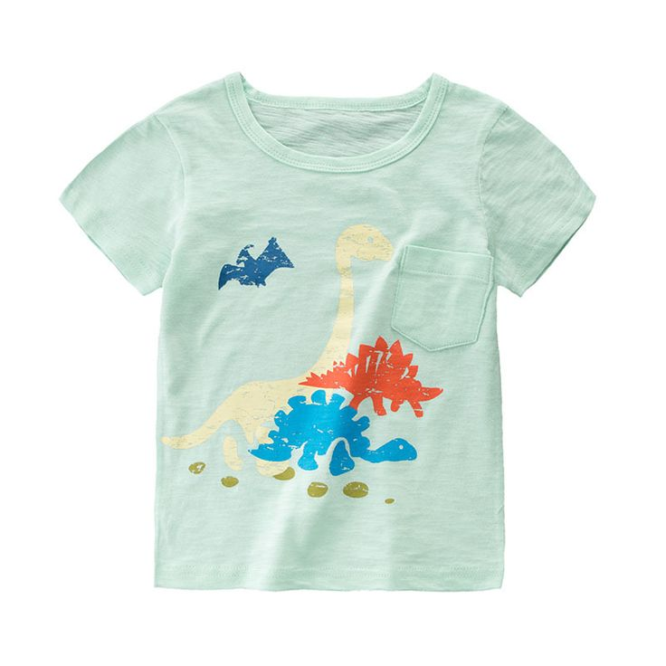 >> Click to Buy << Kids Clothes Summer Children Boys Girls T-shirt  Short Sleeve Cartoon Dinosaur Tops Infant Cotton Clothing  #Affiliate