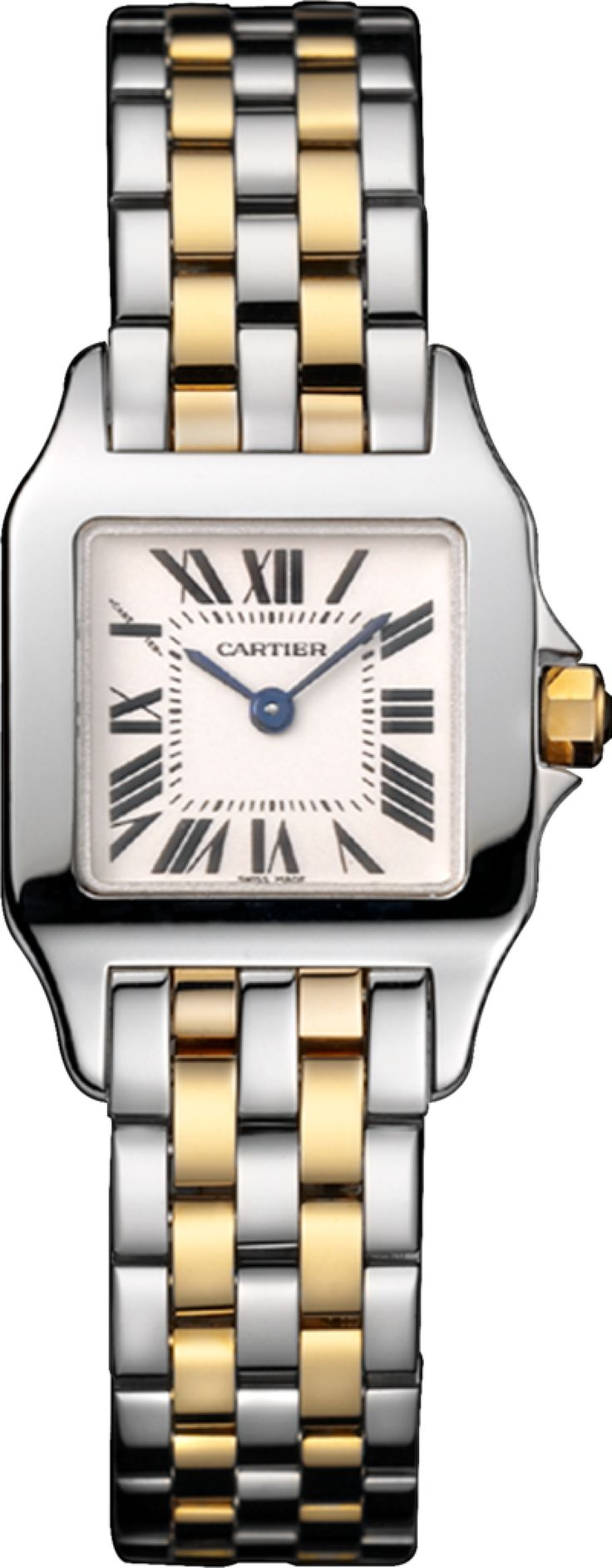#Cartier Santos Demoiselle Yellow Gold #Watch