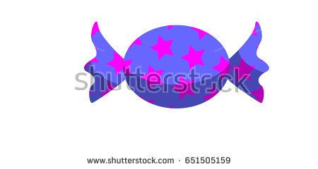 Pink stars pattern and blue indigo candy vector