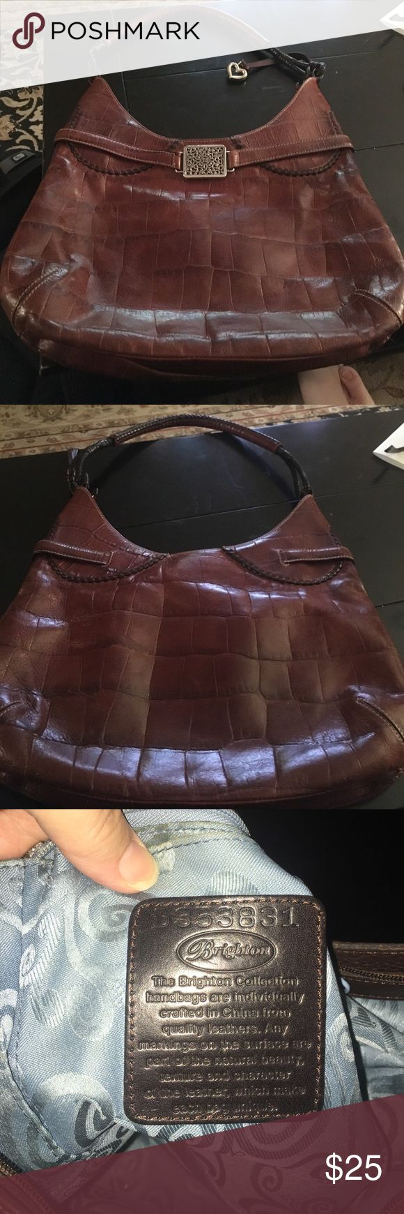 Brighton Purse Authentic Leather Brighton hobo bag. In excellent used condition. Brighton Bags Hobos