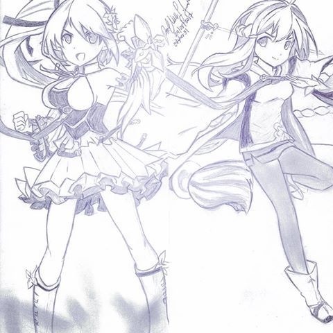 Alright! Done drawing Rena as the Wind Sneaker and Ara as the Sakra Devanam class. I really enjoyed drawing both characters in the same page. 😃😄😁#pencildrawing #sketch #drawing #artwork #ilovedrawing #illustration #fanart #anime #animedrawing #animefanart  #animepicture #elsword #elswordrena #elswordara