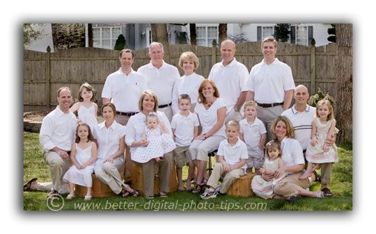 poses for family portraits | We kept the clothing simple, so that it would be easy for all of the ...