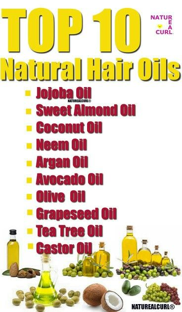 Natural Hair care #Naturealcurl Top 10 oils