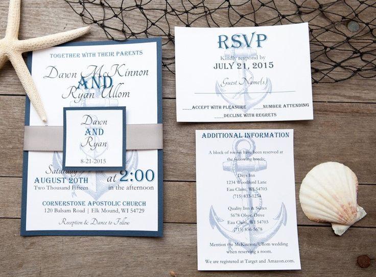 Nautical Wedding Invitation Destination By DawnMarieCreations82