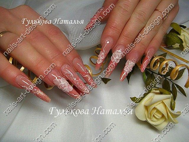 маникюр персикового цвета фото