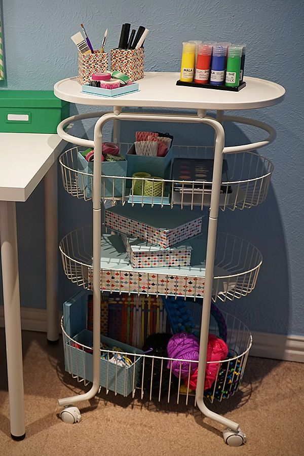 The Ikea Home Tour Squad Used The Sprutt Cart As A Way To Organize Art Supplies