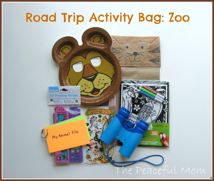 Road Trip Activity Bag--Zoo--The Peaceful Mom