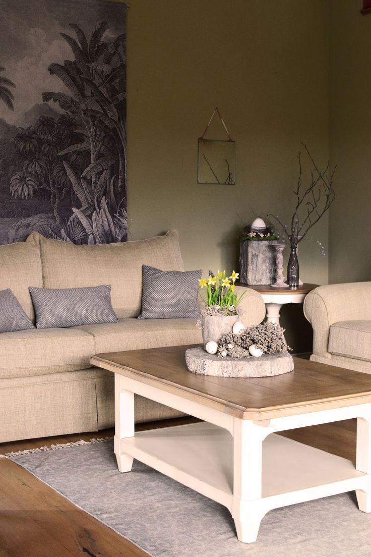charming einfache dekoration und mobel einrichten mit natuerlichen materialien #2: Beistelltische, Dekoideen mit Natur, Osterdeko, Deko, Dekoration, Ostern,  Wohnzimmer einrichten