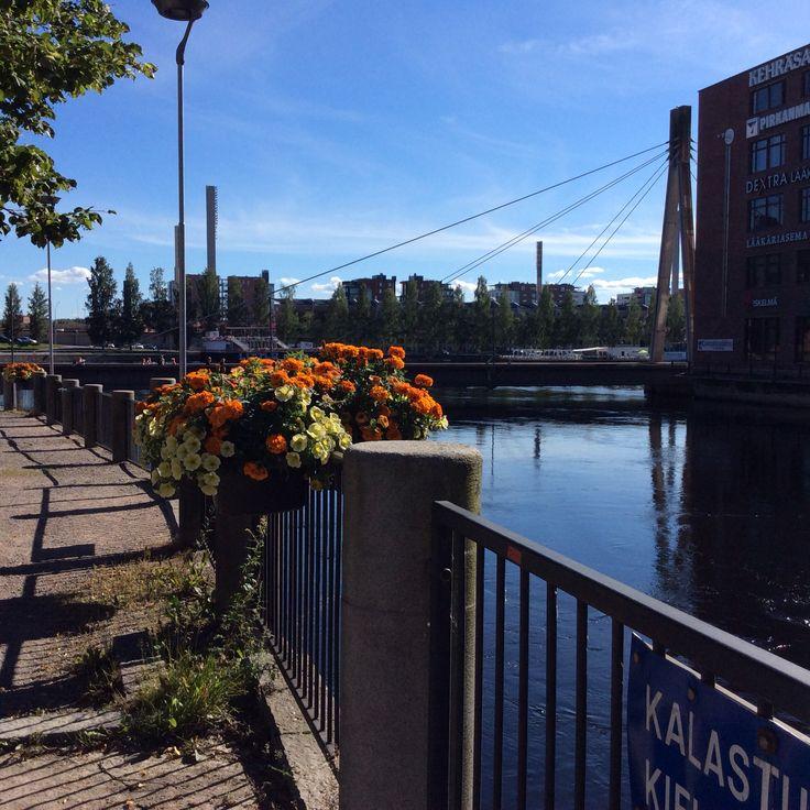 Kesäiset työmaisemat Tampereella elokuussa 2015.