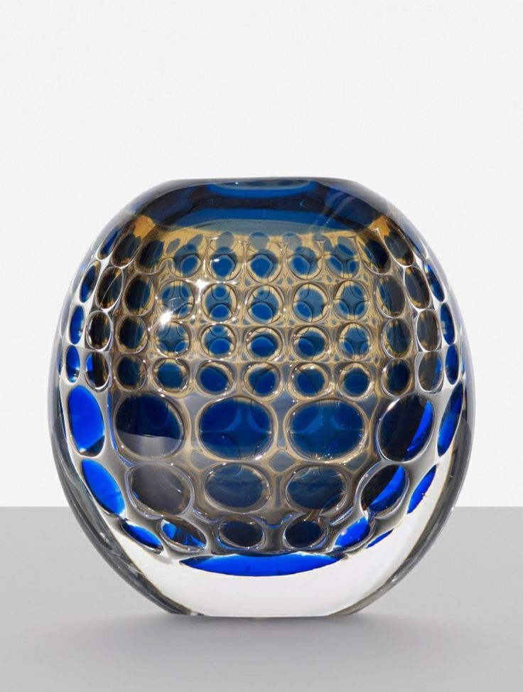 Ingeborg Lundin; Glass 'Ariel' Vase for Orrefors, 1963