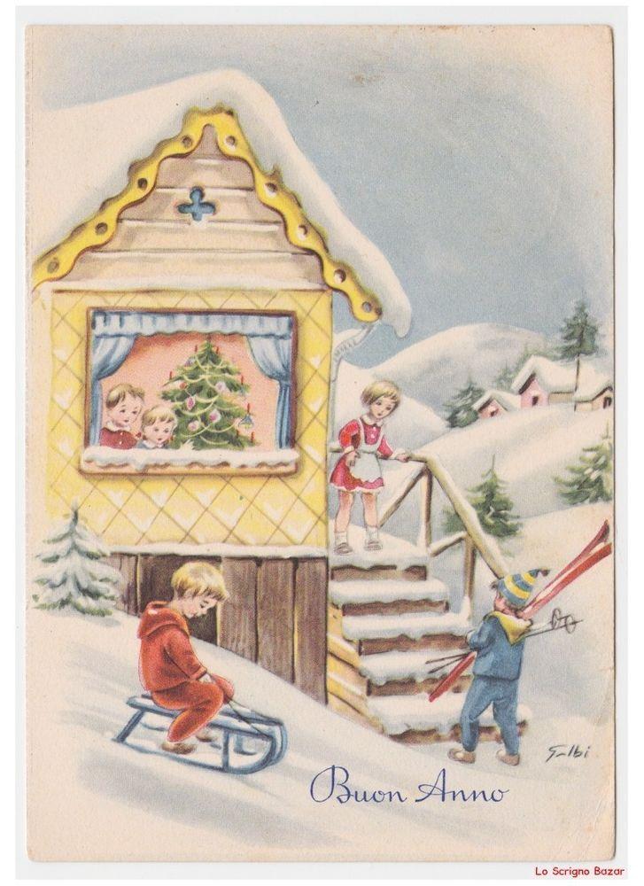 Continua la ricerca nella raccolta di istock di immagini vettoriali. Pin Su Cartoline Natale Italiane