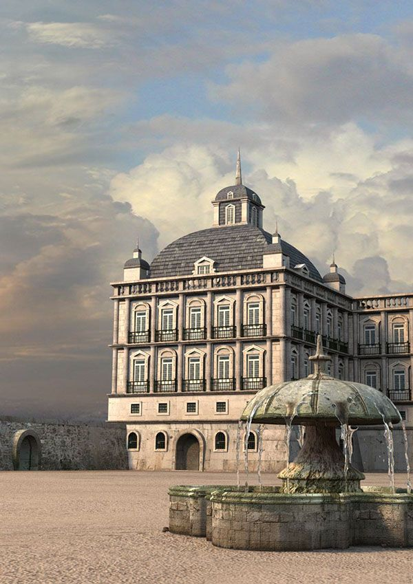 3D reconstruction of some important sites in Lisbon before the earthquake in 1755