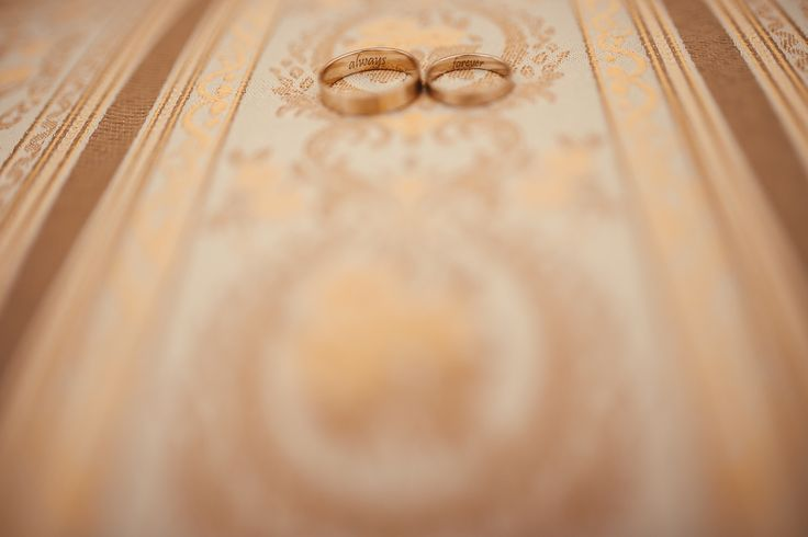 White gold brushed wedding rings