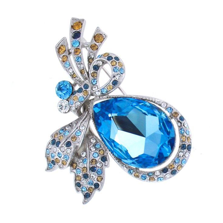 Beautiful Swarovski crystal brooch