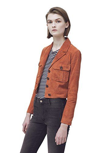 Mango Women's Suede Jacket * Read more at the image link.