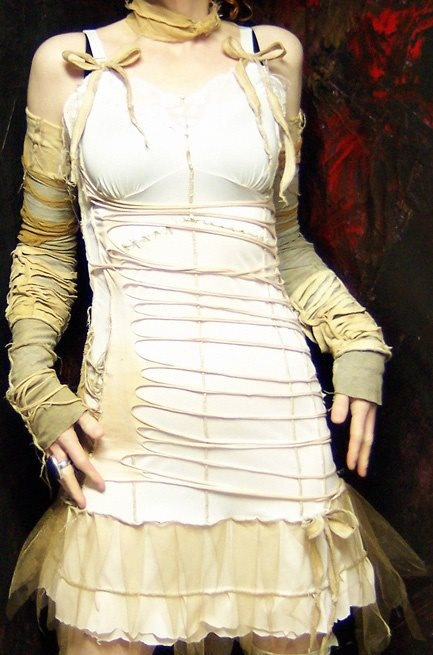 Clever Bride of Frankenstein costume idea.