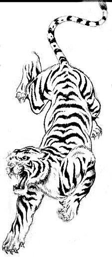 This is the one! the only difference is I want softness around the tiger to show movement like the other one