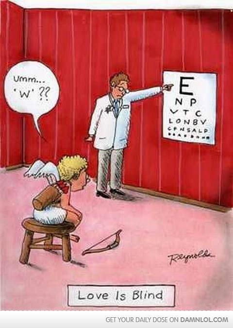 Ha ha ha I see what you did there! Valentine's Day optometry humor