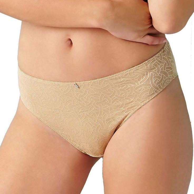 Montelle Intimates Naturelle High-Cut Mesh Bikini Panty 9189, Women's, Size: Medium, Med Beige