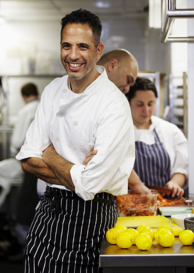 "Yotam Ottolenghi: My husband's favorite chef and author of ""Plenty"" and ""Jerusalem."" To date we have cooked 25 dishes from the ""Plenty"" cookbook, which we call the workhorse of cookbooks! Loved every one! :)"