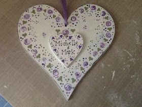 You Can Folk It!: Get to know   The Starter Kit - create the perfect personalised wedding gift by painting a wooden heart and decorating with our dot roses.