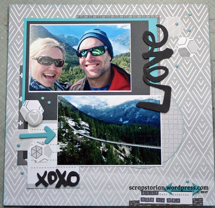 Love on the Sea to Sky Gondola, British Columbia sketch using the Paper Issues Feb 2017 Sketch Challenge and some Amy Tangerine product of American Crafts