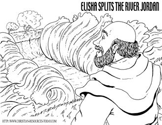 Elisha Splits The River Jordan Ii Kings 2 Click Link Above Bible Coloring Pagesfree