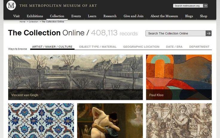 El Museo Metropolitano de Arte de Nueva York dispone de una galería online de obras de arte que podemos descargar y usar gratis para fines personales.