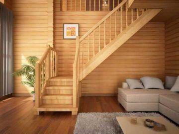 Деревянная лестница на второй этаж своими руками - чертежи и инструкция