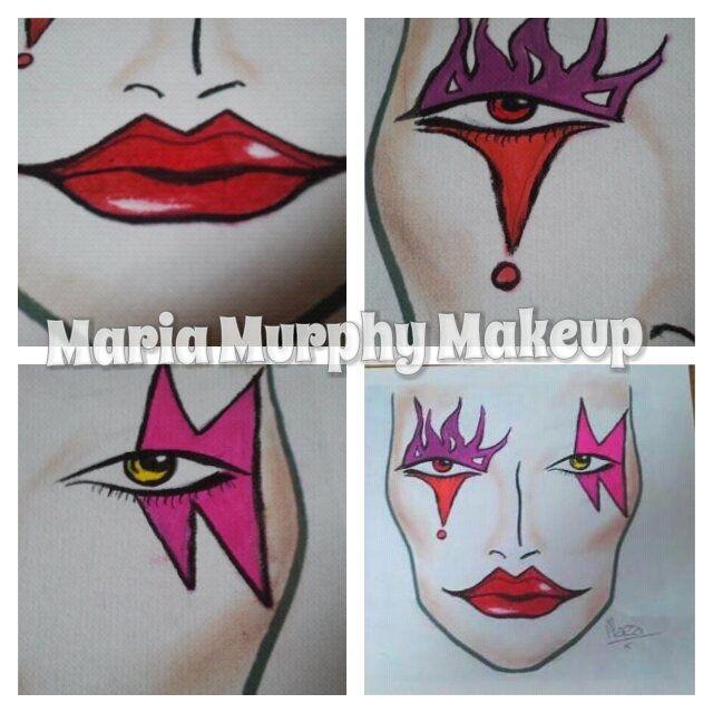 Facechart /clown /makeup / jester