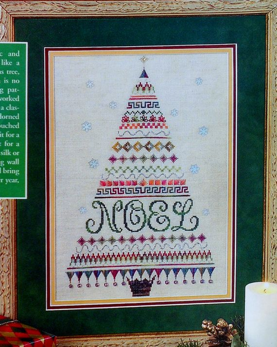 Sharon S. Pope TANNEBAUM O Christmas Tree Noel - Counted Cross Stitch Pattern Chart - fam